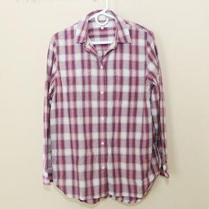 Madewell Button Down Shirt Top Plaid Medium M